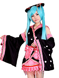 cheap -Inspired by Vocaloid Hatsune Miku Video Game Cosplay Costumes Cosplay Suits Patchwork Kimono Coat Costumes