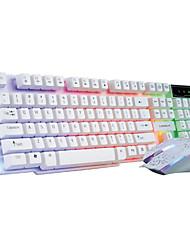 Недорогие -Windows 2000 / XP / Vista / 7 / Mac OS USB Проводная клавиатура& мышь