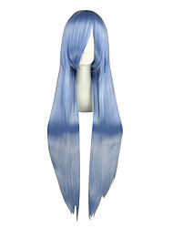 cheap -Cosplay Wigs TouHou Project Hinanawi Tenshi Blue Long Anime Cosplay Wigs 100 CM Heat Resistant Fiber Male / Female