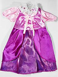 abordables -sharon robe de poupée princesse habiller vêtements de vinyle de 16 pouces accessoires robe main 3 ensembles de vent palais