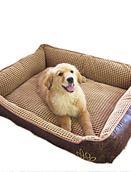cheap -Cat Dog Mattress Pad Bed Bed Blankets Waterproof Pet Blankets Leather Cotton Beige Coffee