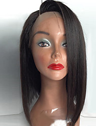 cheap -Synthetic Lace Front Wig Straight Straight Bob Lace Front Wig Black Light Brown Medium Brown Jet Black Dark Brown Synthetic Hair Women's Middle Part Bob Black Brown