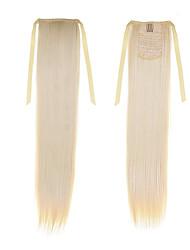 Недорогие -Искусственные волосы Наращивание волос Прямой Классика Повседневные Высокое качество Конские хвостики