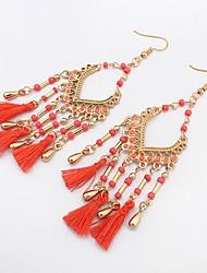 cheap -Women's Drop Earrings Chandelier Tassel Bohemian European Fashion Resin Earrings Jewelry Red / Green / Pink / Blue For Party Daily Casual Work