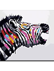 cheap -Zebra Home Decoration Hand Painted Oil Painting Handwork Gifts with Stretched Frame Ready to Hang