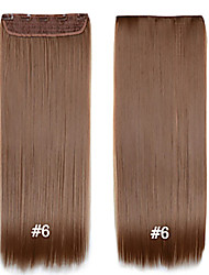 cheap -Straight Clips Synthetic Hair 22 inch Hair Extension Clip In Clip In / On Women's Daily