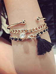 cheap -Women's Chain Bracelet Charm Bracelet Cuff Bracelet Ladies Bohemian Fashion Bracelet Jewelry Black For Daily Casual
