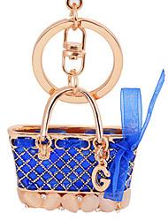 cheap -Enamel Hangbag Lady Car Keychain Gift