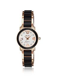 cheap -jewelora Women's Fashion Watch Dress Watch Quartz Ceramic Black Shock Resistant Analog Vintage - Gold / Black