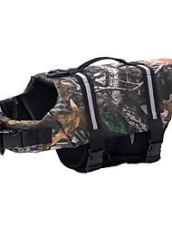 Недорогие -Собака Плавающее пальто для собаки Спасательные жилеты Зима Одежда для собак Отражение Костюм Нейлон камуфляж Водонепроницаемый XXS XS S M L XL