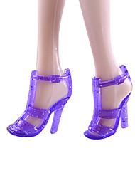 Недорогие -11-дюймовые куклы обувь и туфли на высоких каблуках ювелирных аксессуаров моды фантазии детская одеваются игрушка 4.8 пакет