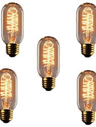 cheap -5pcs 40 W E26 / E27 T45 Warm White 2300 k Retro / Dimmable / Decorative Incandescent Vintage Edison Light Bulb 220-240 V