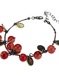 cheap -Women's Charm Bracelet Ladies Fashion Resin Bracelet Jewelry Red For Daily