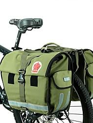 abordables -ROSWHEEL 50 L Sac de Porte-Bagage / Double Sacoche de Vélo Etanche Pluie Etanche Vestimentaire Sac de Vélo Toile Nylon Matériau imperméable Sac de Cyclisme Sacoche de Vélo Cyclisme / Vélo Voyage