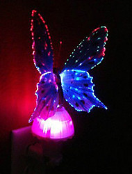 cheap -Creative LED Color Changing Night Light 5W Light Control Fiber Butterfly Lamp