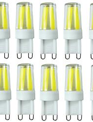 Недорогие -10 шт. 2 W Двухштырьковые LED лампы 200-250 lm G9 T 4LED Светодиодные бусины COB Водонепроницаемый Диммируемая Декоративная Тёплый белый Холодный белый Естественный белый 220-240 V 110-130 V / RoHs