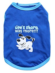 cheap -Cat Dog Shirt / T-Shirt Animal Fashion Dog Clothes Breathable Blue Costume Baby Small Dog Cotton XS S M L