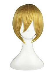 cheap -Vocaloid Kagamine Len Cosplay Wigs Men's Women's 14 inch Heat Resistant Fiber Anime Wig