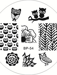 cheap -cute-owls-nail-art-stamping-stamp-template-image-plate-manicure-tool-born-pretty-bp54