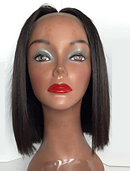 cheap -short bob straight natural black color lace front wigs high quality heat resistant synthetic wigs for women