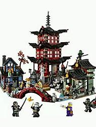 cheap -Bole Mirage Ninja Ninjago Ninja Temple Village Empty Building Blocks Assembled Puzzle Surgery Temple 70751 10427