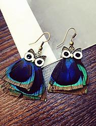 cheap -Women's Drop Earrings Owl Animal Earrings Jewelry Blue For Daily Casual