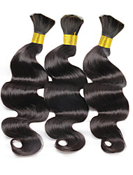 cheap -Brazilian Hair Body Wave Natural Color Hair Weaves Human Hair Weaves Natural Black