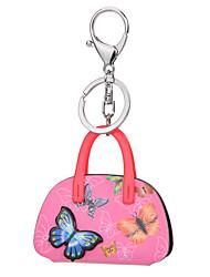 cheap -Trendy Fashion Acrylic Car Key Holder Women Handbag Butterfly Bag Keychain Charm Gifts