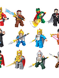 cheap -12piece/lot Three Kingdoms War Series Models Building Toy Plastic Minifigures  Special Weapons For Boys Gift