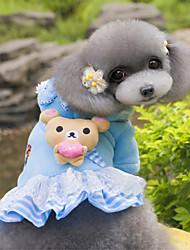 cheap -Dog Hoodie Dress Winter Dog Clothes Blue Pink Costume Polar Fleece Bear Fashion S M L XL XXL