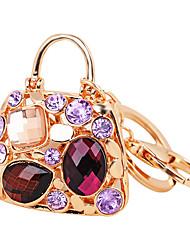 cheap -2016 Elegant Gem Bag Pendant Metal Car Key Ring Handbag Keychain