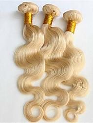 cheap -3 Bundles Brazilian Hair Body Wave Natural Color Hair Weaves / Hair Bulk Human Hair Weaves Human Hair Extensions / 8A
