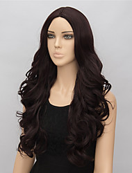 cheap -Synthetic Wig Wavy Wavy Wig Medium Length Brown Synthetic Hair Women's Brown