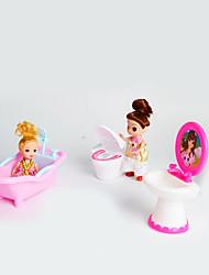 Недорогие -кукла подарочный набор большие игрушки из трех частей моделирования аксессуары для ванной комнаты туалет биде дети играют дома без ребенка