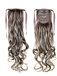 cheap -High Quality Drawstring Ponytail 22inch 55cm 100g Cheap  #8/613 Mixed Color For Beautiful Ladies Synthetic Tails