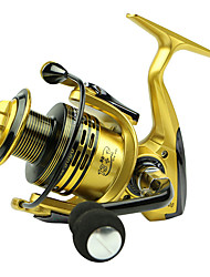 cheap -Fishing Reel Spinning Reel 5.5/1 Gear Ratio+13 Ball Bearings Hand Orientation Exchangable Bait Casting / General Fishing - XF5000