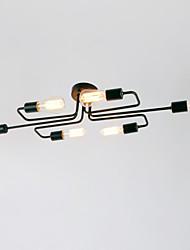 cheap -BriLight 6-Light 28(11.2'') Mini Style Flush Mount Lights Metal Painted Finishes Rustic / Lodge / Vintage / Modern Contemporary 110-120V / 220-240V