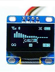 """abordables -0.96 """"inch i2c bleu iic série 128x64 lcd oled conduit module d'affichage pour le scr de arduino 51 msp420"""