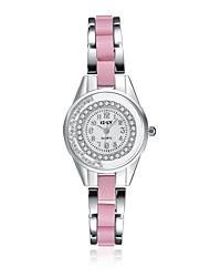 cheap -jewelora Women's Fashion Watch Dress Watch Quartz Ceramic Pink Shock Resistant Casual Watch Analog Vintage - Pearl Pink
