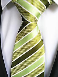 cheap -Men's Fashion Yellow Green Fabric Tie Bar
