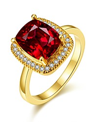 cheap -Women's Band Ring Promise Ring 18K Gold Plated Gemstone Gold Plated Oval Vintage Fashion Elegant Wedding Party Jewelry Cocktail Ring