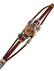 cheap -Women's Bracelet Watch Quartz Japanese Quartz Casual Watch Leather Band Vintage Bohemian White Brown