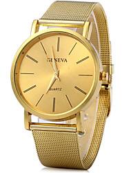 Недорогие -Жен. Наручные часы Кварцевый Золотистый Повседневные часы Cool Аналоговый Классика Винтаж На каждый день Мода
