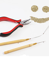cheap -neitsi stick hair extension remove pliers pulling hook bead device tool kits for silicone micro rings beads loops