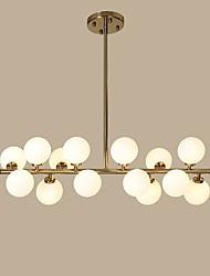 cheap -16 Bulbs 100 cm Designers Chandelier Metal Glass Gold Modern Contemporary 110-120V / 220-240V
