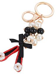 cheap -Pearl Shoe Bag Ornaments Car Key Ring Pendant Female Fashion