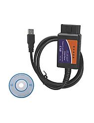 cheap -USB OBD2 ELM327 Automotive Diagnostic Test Line Plastic Shell