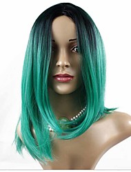 cheap -Synthetic Wig Straight Straight Bob Wig Ombre Synthetic Hair Women's Middle Part Bob Ombre