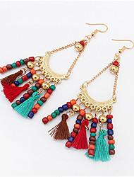 cheap -Women's Drop Earrings fan earrings Chandelier Tassel Bohemian European Fashion Resin Earrings Jewelry Blue / Red / White / Black For Party Daily Casual Work