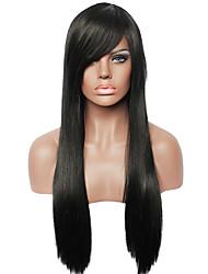 cheap -Human Hair Wig Straight Straight Capless Black